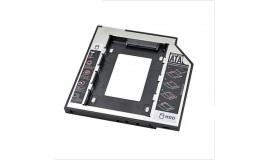 Универсальный алюминиевый переходник для установки второго жесткого диска, 9,5 мм