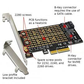 Адаптер High-Performance SSD M.2 NGFF NVMe to PCIe Adapter (EM2-5003)